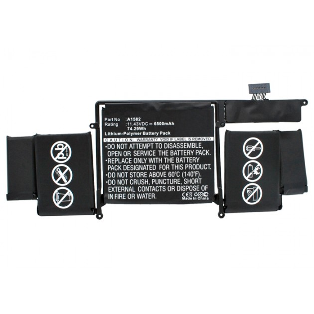 Image of A1582 / batteri til Apple MacBook Pro 13 Retina 2015 (Kompatibelt) 6500mAh