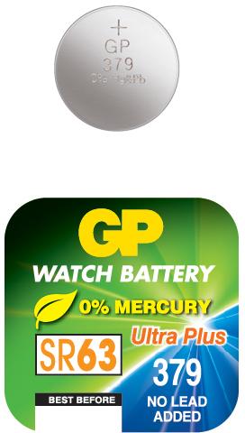 Billede af GP 379 A1 - SR521SW - 1,55 V Silver Oxide batteri