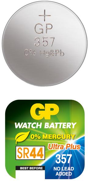 Billede af GP 357 / GP 303 A1 - SR44W - 1,55 V Silver Oxide batteri