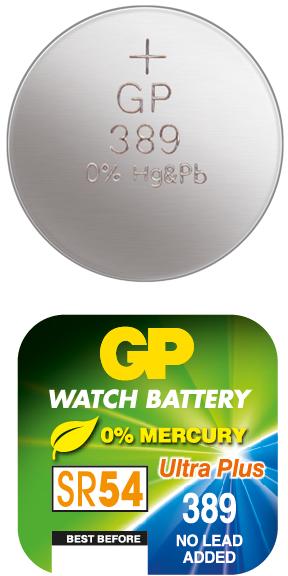 Billede af GP 389 / GP390 A1 - SR1130W - 1,55 V Silver Oxide batteri