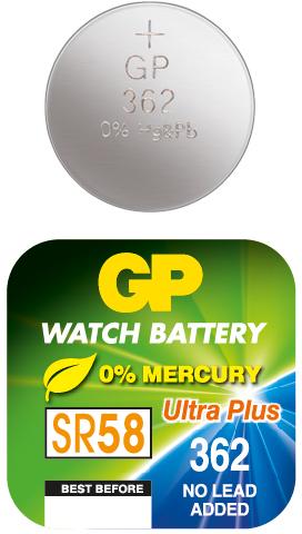 Billede af GP 362 A1 - SR721SW - 1,55 V Silver Oxide batteri