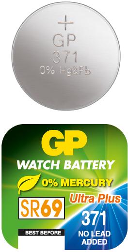 Billede af GP 371 A1 - SR920SW - 1,55 V Silver Oxide batteri