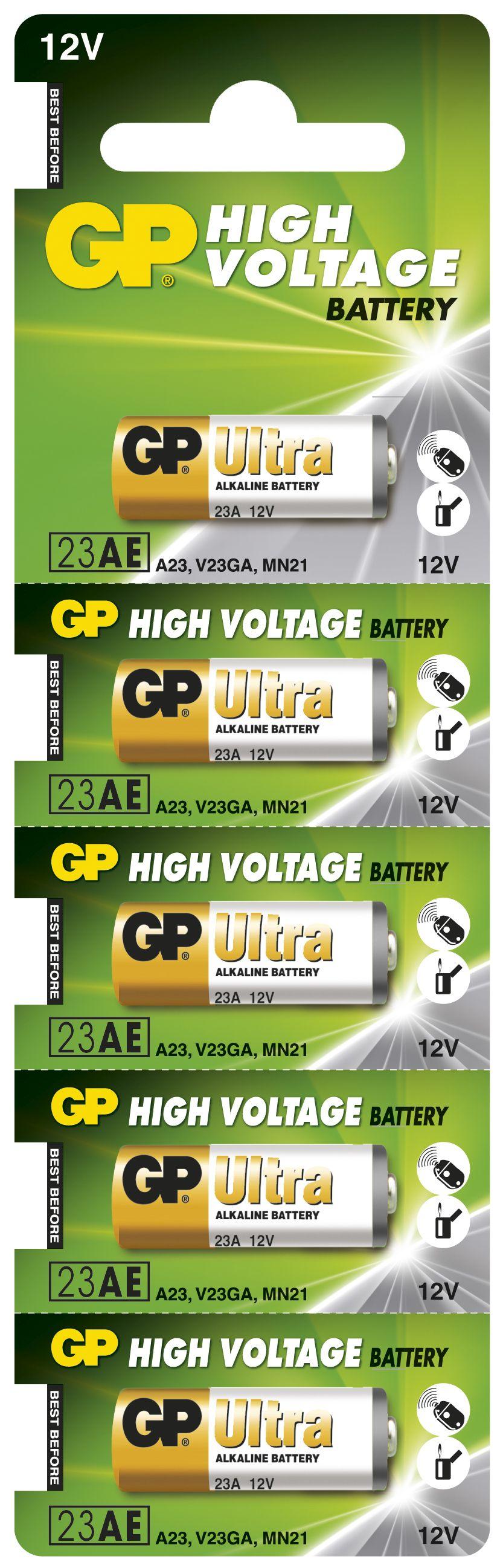 Image of   5 stk. GP 23A 12 volt Alkaline batteri