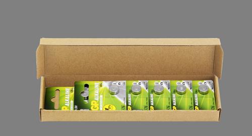10 stk. GP A76 / LR44 / LR1154 / AG13 Alkaline batteri
