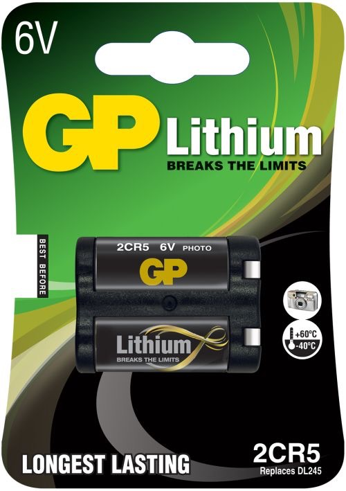 GP 2CR5 6 volt Lithium batteri