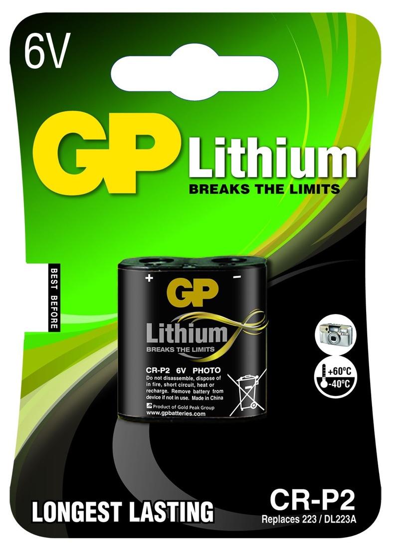 GP CR-P2 6 volt Lithium batteri På lager igen i uge 38