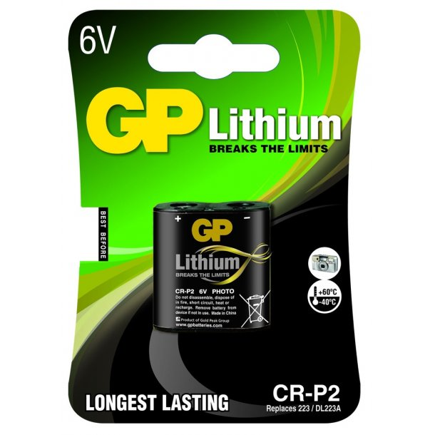 GP CR-P2 6 volt Lithium batteri