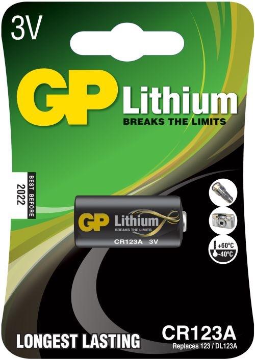 Billede af GP CR123A Foto Lithium batteri 3 Volt