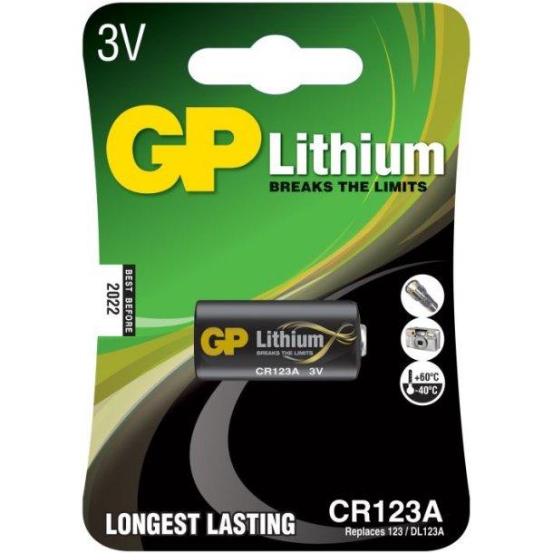 GP CR123A Foto Lithium batteri 3 Volt