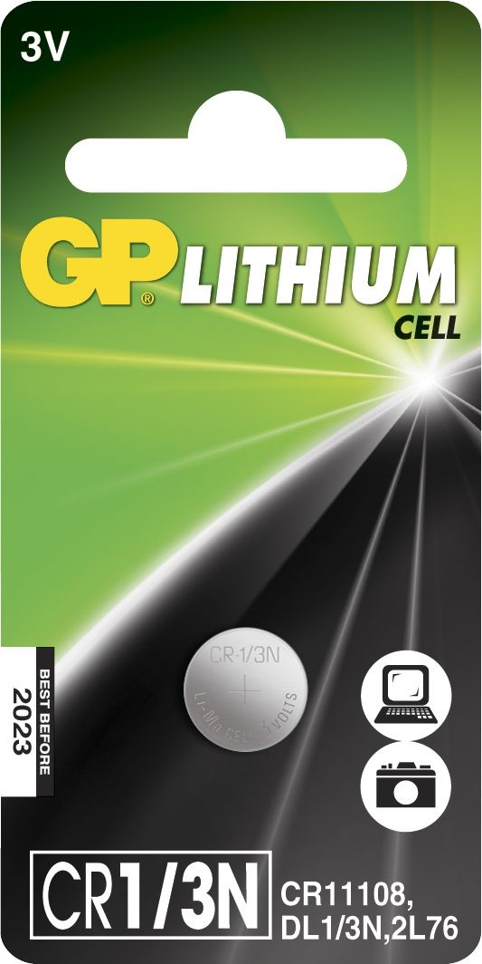Billede af GP CR 1/3N 3 Volt Lithium batteri