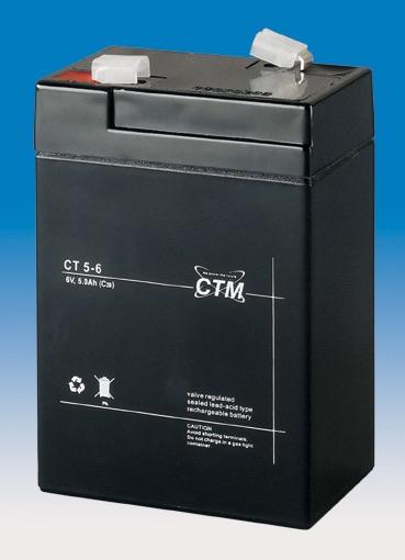 Billede af 6 volt 5Ah. bly batteri