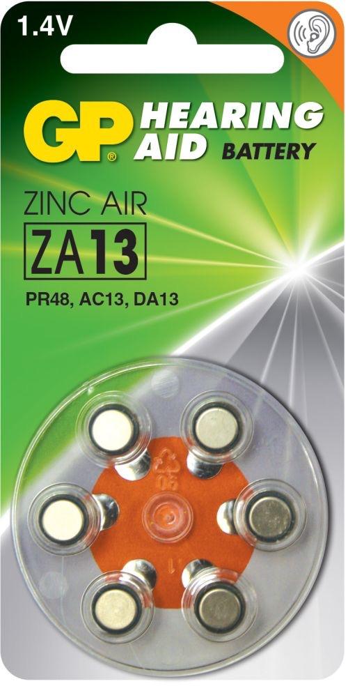 GP ZA13 1,4 V batterier