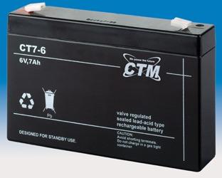 Billede af 6 volt 7Ah. bly batteri