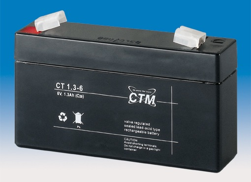 Billede af 6 volt 1,3Ah. bly batteri
