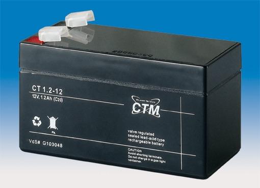 Billede af 12 volt 1,2 Ah bly batteri