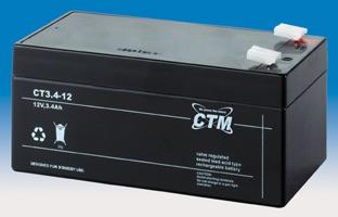 Billede af 12 volt 3,4 Ah. bly batteri