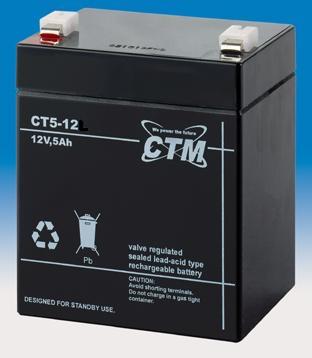 Billede af 12 volt 5Ah. bly batteri