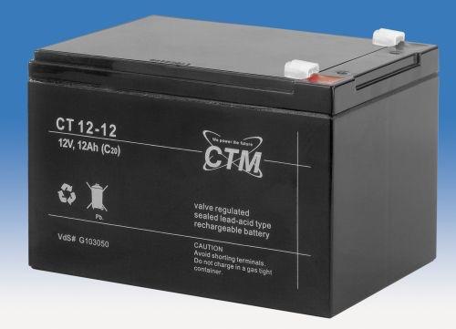 Billede af 12 volt 12 Ah. bly batteri