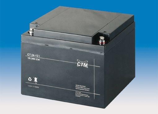 Billede af 12 volt 24 Ah. bly batteri
