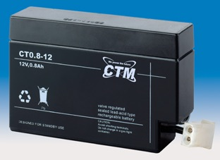 Image of   12 volt 0,8 Ah. bly batteri (AGM)
