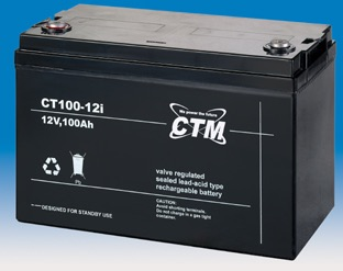 Image of   12 volt 100 Ah. bly batteri