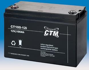 Billede af 12 volt 100 Ah. bly batteri