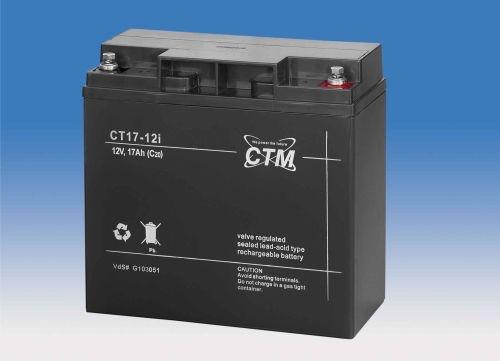 Billede af 12 volt 17 Ah. bly batteri