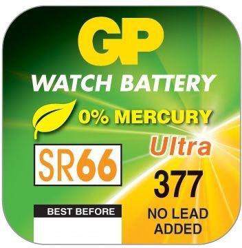 Billede af GP 377 A1 - SR626SW - 1,55 V Silver Oxide batteri