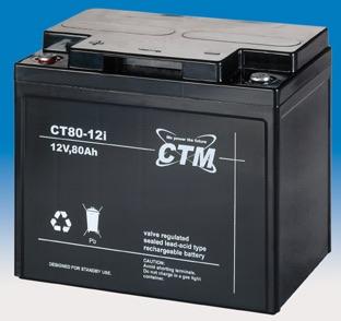 Billede af 12 volt 80 Ah. bly batteri