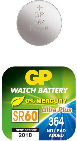 Billede af GP 364 A1 - SR621SW - 1,55 V Silver Oxide batteri