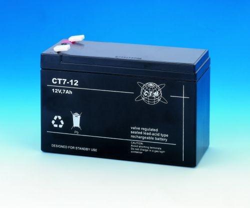 Billede af 12 volt 7 Ah. bly batteri