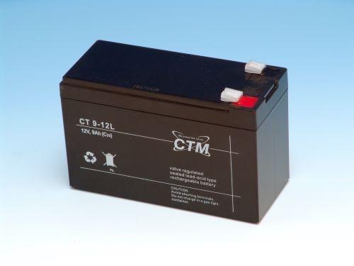 Billede af 12 volt 9 Ah. bly batteri