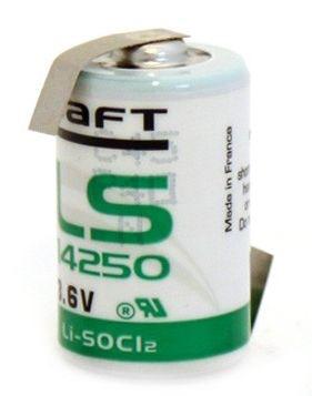 Billede af 3,6 volt 1/2AA Lithium batteri med loddeflig