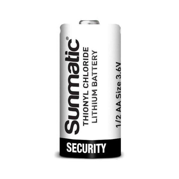 3,6 volt 1/2AA Lithium batteri 1200mAh