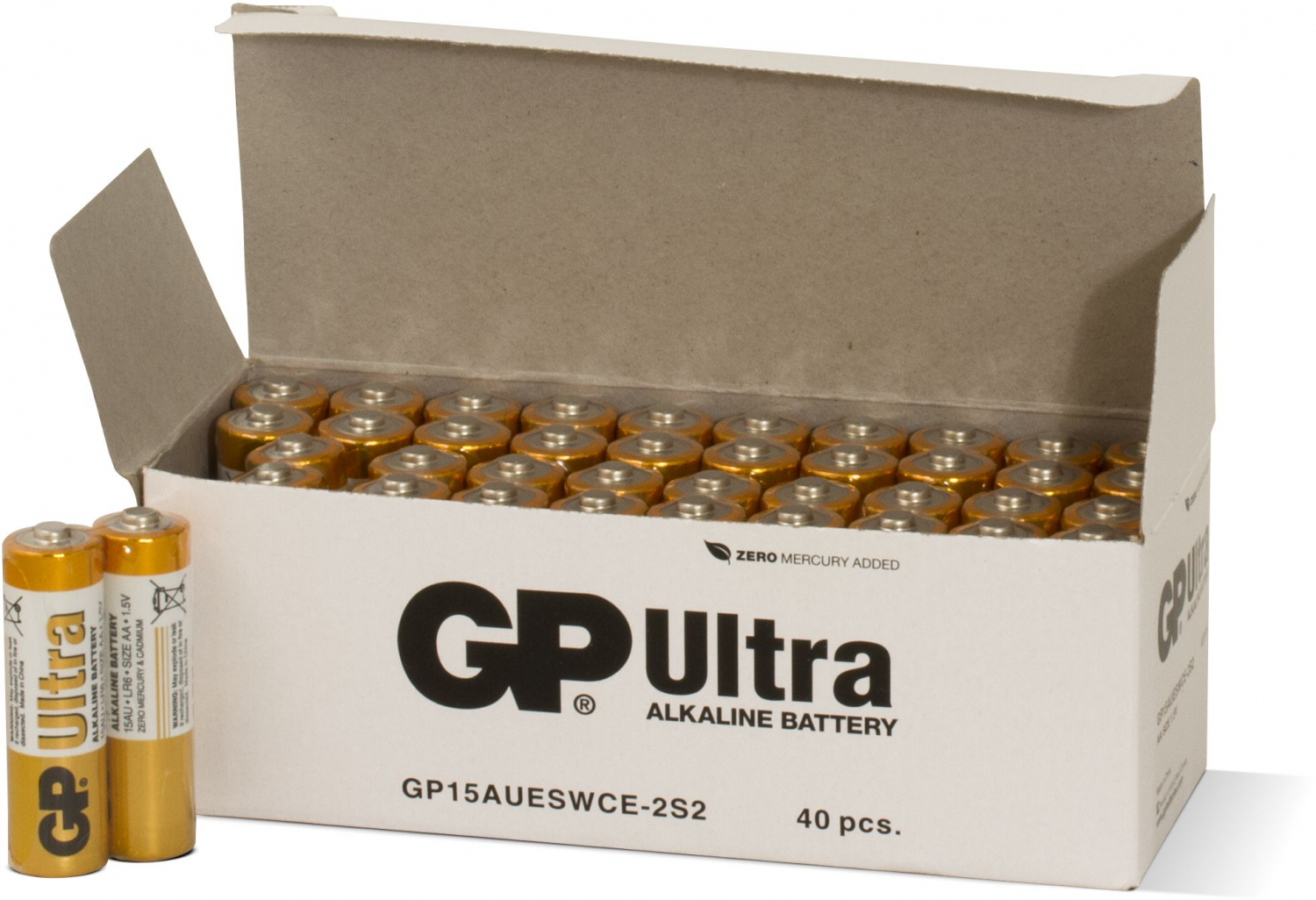 40 stk. GP AA Ultra batterier / LR6 / R6