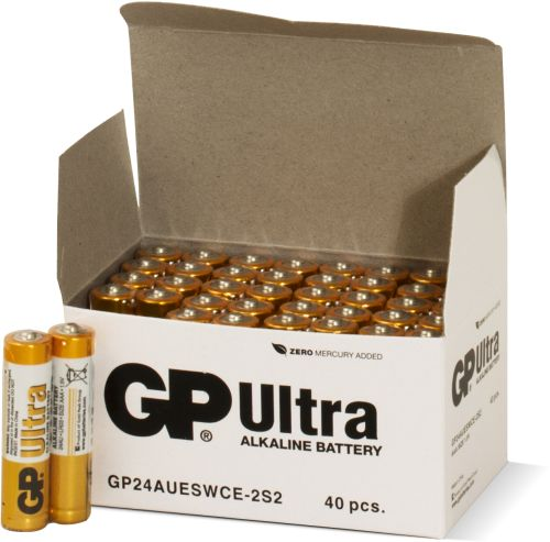 40 stk. GP AAA Ultra batterier / LR03