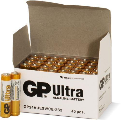 Billede af 40 stk. GP AAA Ultra batterier / LR03
