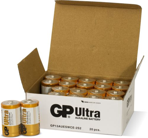 20 stk. GP D Ultra batterier / LR20