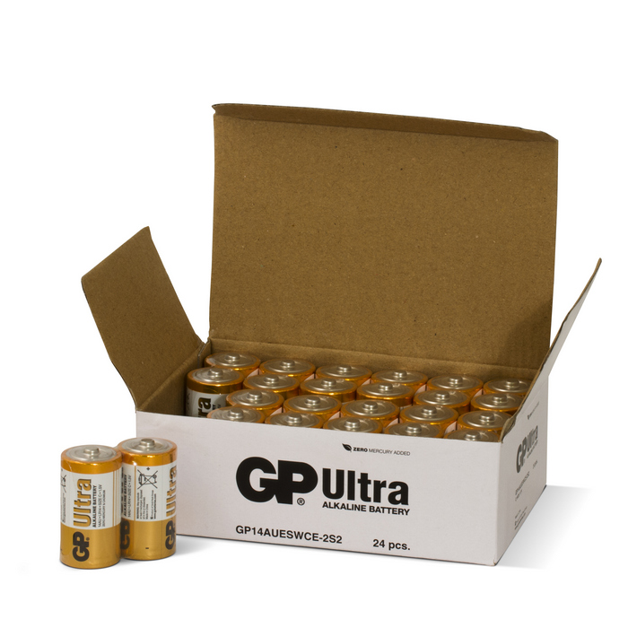 Image of   24 stk. GP C Ultra batterier / LR14