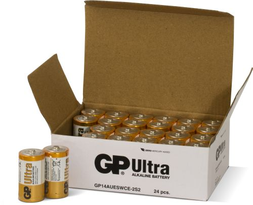Image of   24 stk. GP C Ultra batterier / LR14