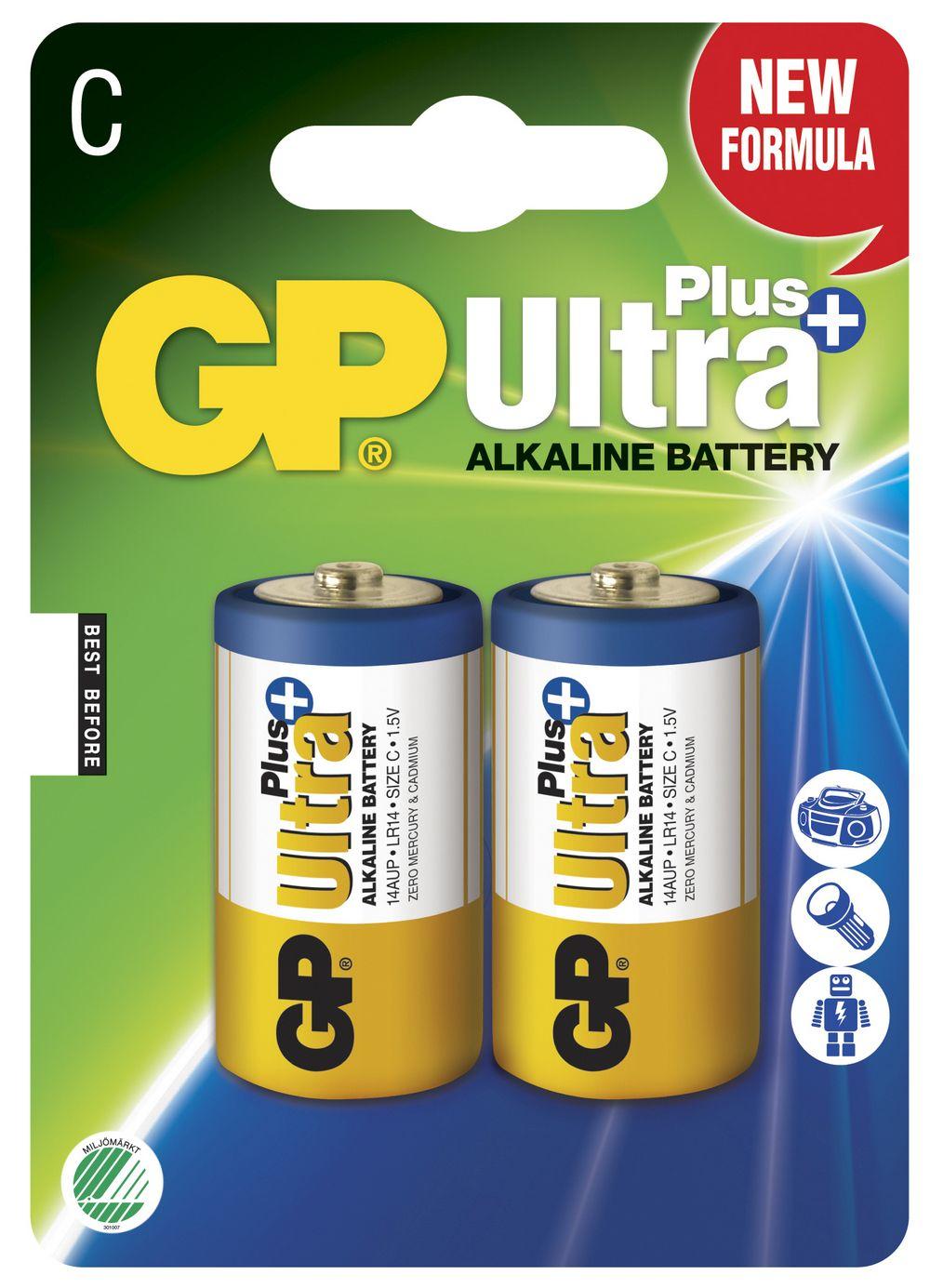 Image of GP C Ultra Plus batterier / LR14