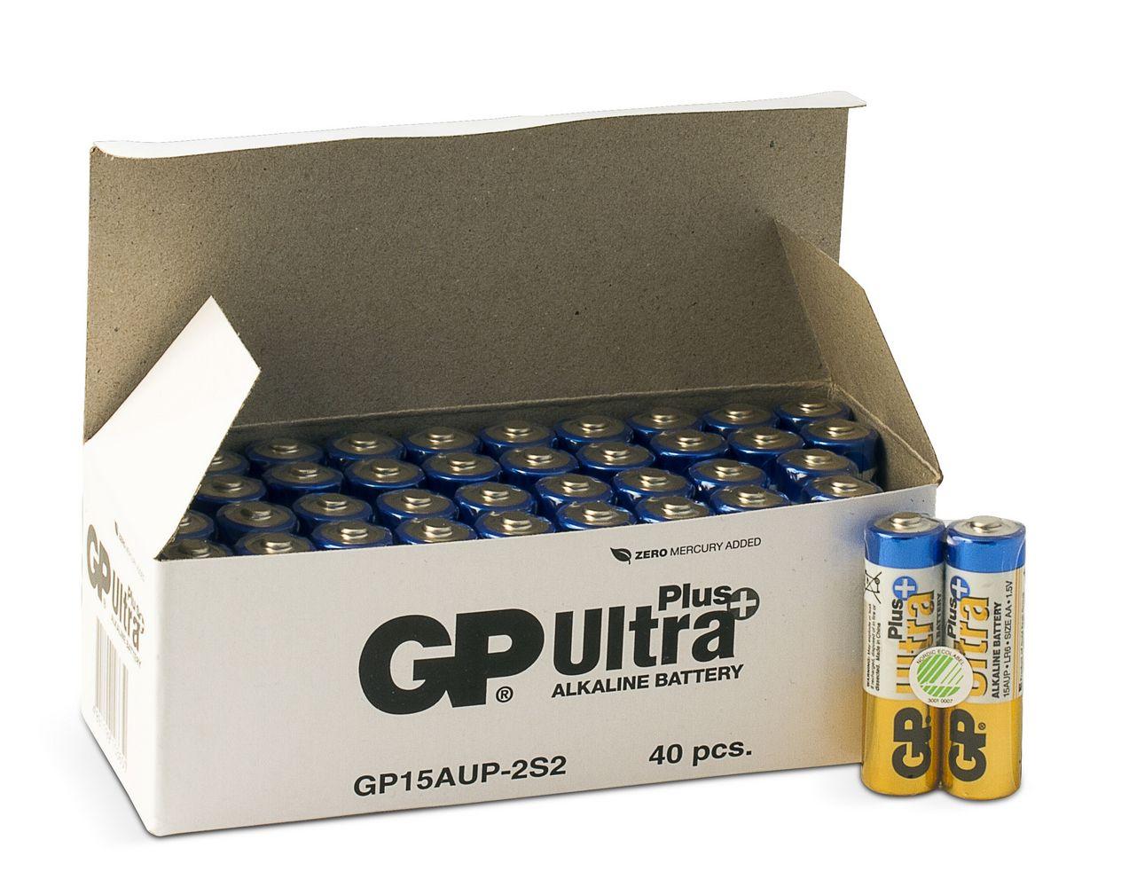 Image of 40 stk. GP AA Ultra Plus batterier / LR6 / R6