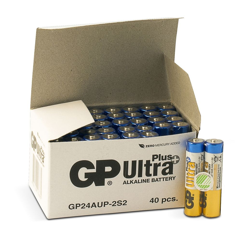Image of   40 stk. GP AAA Ultra Plus batterier / LR03 / LR3