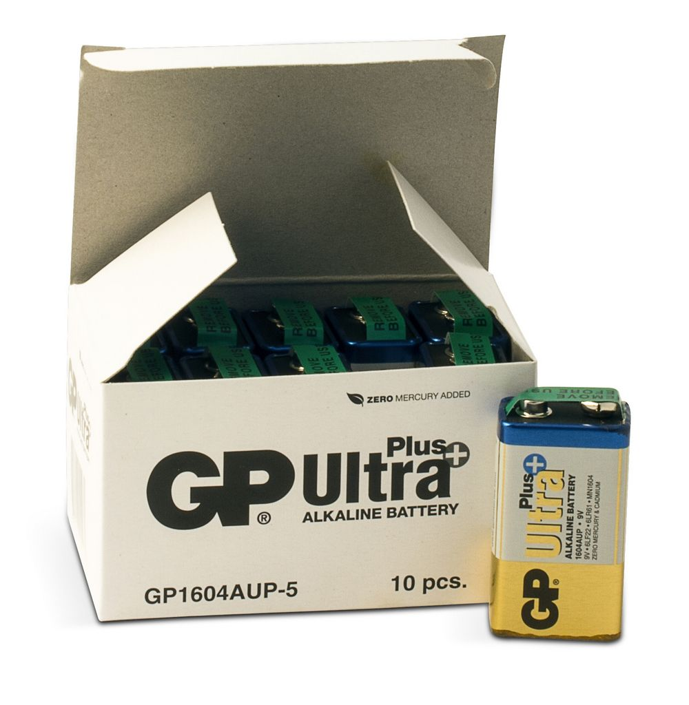 Image of   10 stk.GP 9 V Ultra Plus batteri