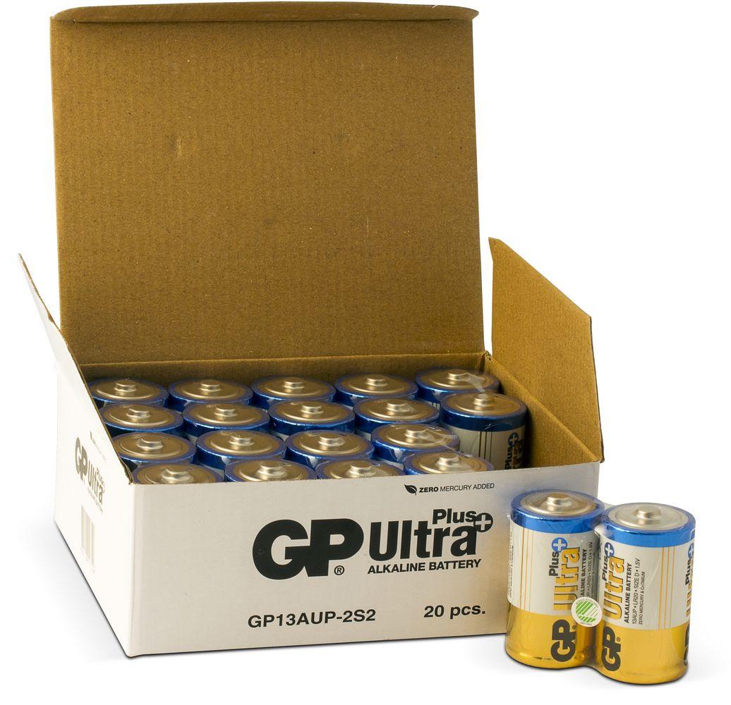Image of 20 stk. GP D Ultra Plus batterier / LR20