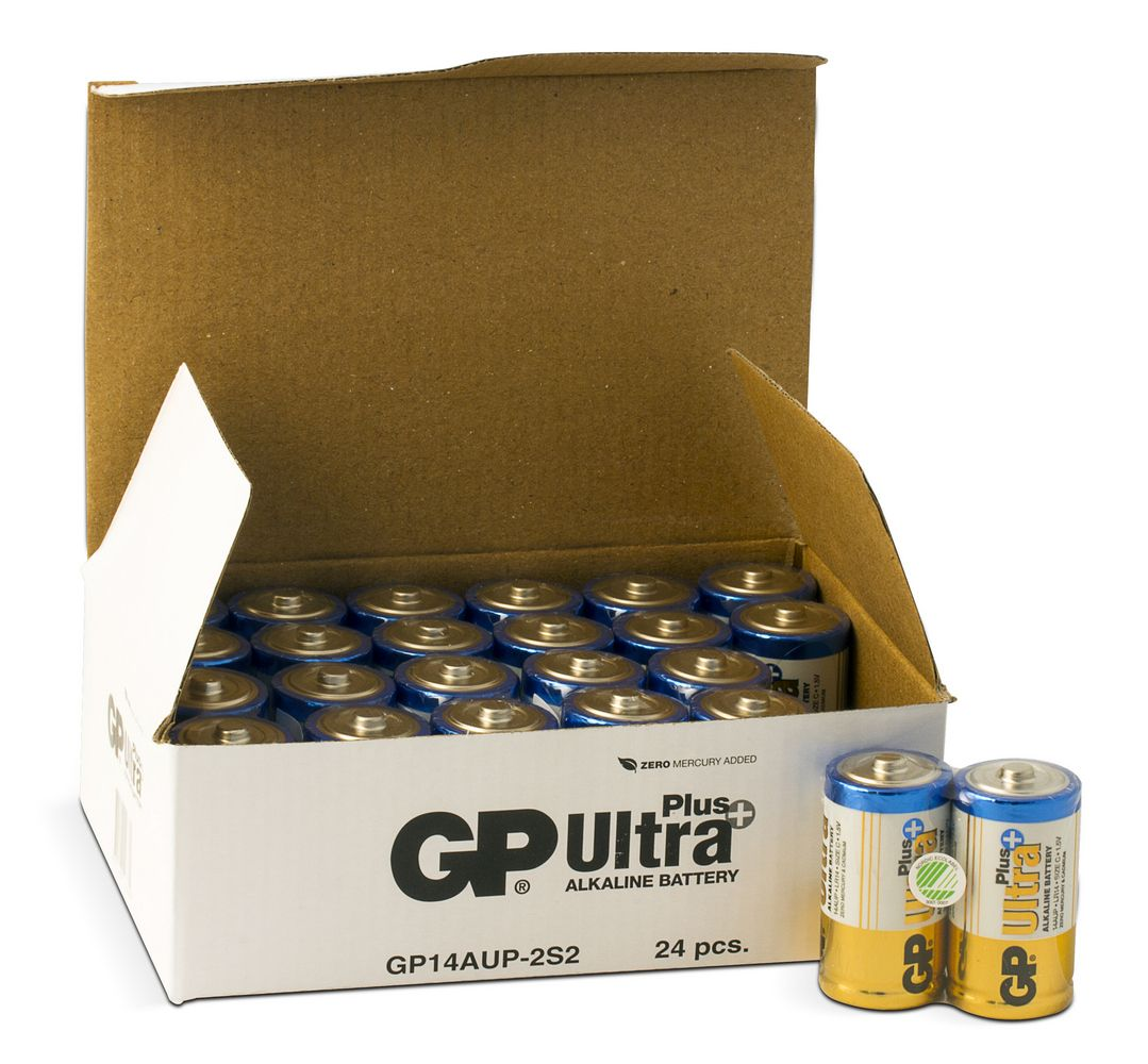 Image of   24 stk. GP C Ultra Plus batterier / LR14