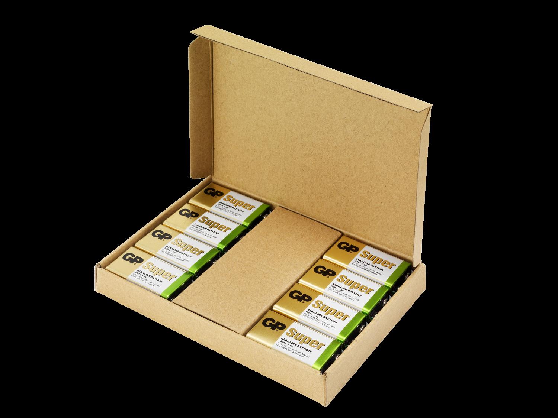 8 stk. GP 9V Super Alkaline batterier - Tilbudspakke