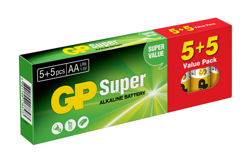 Image of   10 stk. GP AA Super Alkaline / LR6 / R6