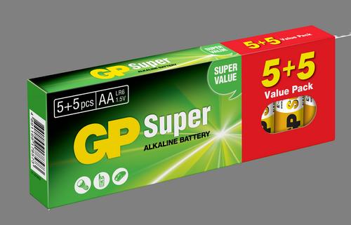 10 stk. GP AA Super Alkaline / LR6 / R6
