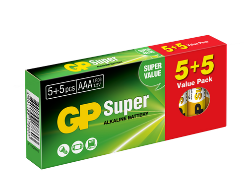 Image of   10 stk. GP AAA Super Alkaline / LR3/ R3